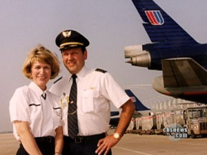 Chief Flight Attendant Jan Lohr-Brown and Captain Denny Fitch, who both returned to flying after the crash.