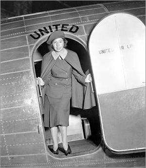 The world's first female flight attendant, Ellen Church.