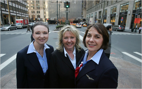 Angels Of The Sky. From left to right - Donna Dent, Doreen Welsh and Sheila Dail.