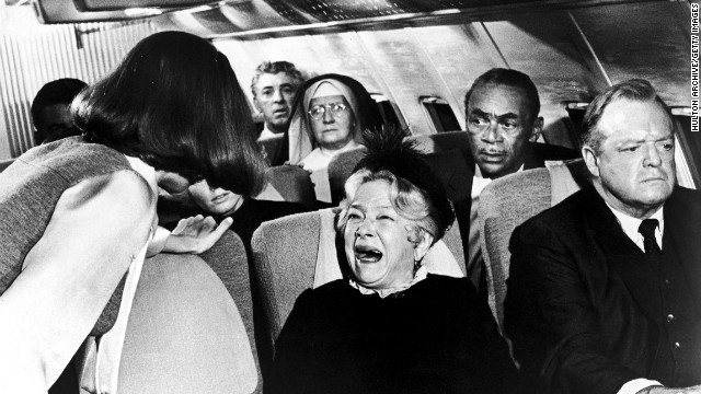 """STOP PLAYING WITH THE TRAY TABLE!"""