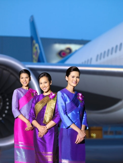 The gorgeous Thai Airways girls.