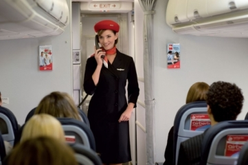 """Above your head are a number of buttons. Three of these, marked with a lightbulb, turn on your personal reading light. You will also find a button to call the flight attendant. Pressing this button will not turn on the flight attendant""."