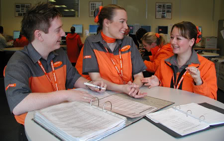 easyJets new uniform is a far cry from the orange shirts and puffer jackets they used to wear.