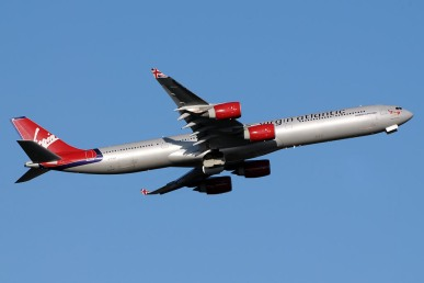 The airlines first A340-600 was delivered in 2002. At the time the worlds longest passenger jet, it carried the slogan '4 engines 4 long haul'. Virgin claimed at the time, that its 4 engined jets were much safer on long haul routes than its rivals, who were now ordering twin-engined ETOPS airliners. The slogan was quickly removed when they ordered their A330 and B787s.