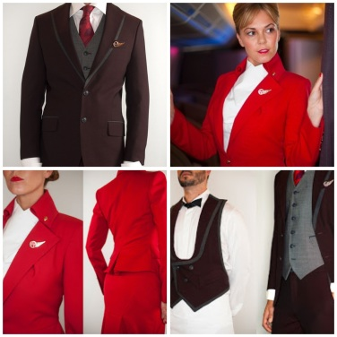 It was announced in 2013 that Vivienne Westwood would be re-designing the iconic Virgin cabin crew uniform. Both Westwood and Virgin have always been known to push the boundaries and their collaboration for the new uniform is no exception. New eco-friendly thread will be used to create the new uniform pieces, still in the iconic 'Virgin red', spun from recycled polyester.