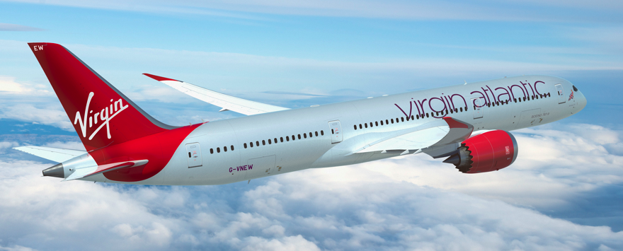 Virgin Atlantic took delivery of its first Boeing 787-9 'Dreamliner' in 2014 and placed the aircraft on its Boston route. The first of its state-of-the-art jets was named 'Birthday Girl' in honour of the airlines 30th anniversary and features a stylised 'flying lady' carrying a glass of bubbly.