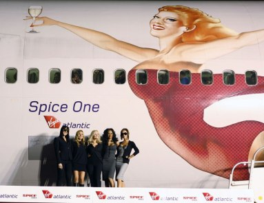 G-VFAB was renamed 'Spice One' in 2007, with the Spice Girls in attendance to launch their world tour.