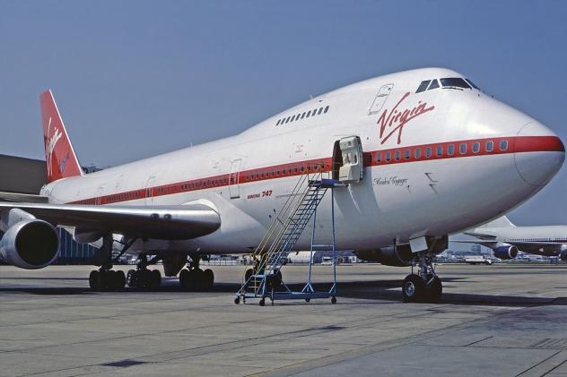 Virgins first ever aircraft Boeing 747-200 G-VIRG 'Maiden Voyager' .