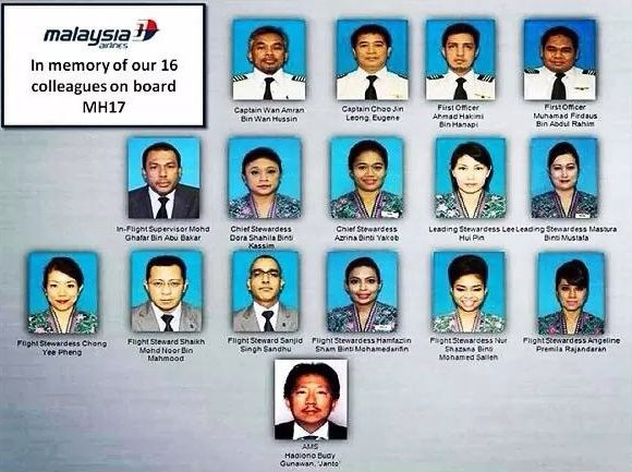 The faces of flightMH17.