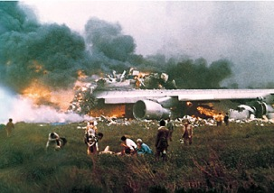 Tragedy struck the airline on March 27, 1977 when a KLM Boeing 747's was involved in a collision with a Pan Am 747, during take-off from Los Rodeos Airport (now Tenerife North) in the Canary Islands. Both Jumbo Jet's had been diverted to Tenerife after a bomb had exploded at nearby Las Palmas, closing the airport. 583 people were killed in the incident, including all 283 on the KLM jet. The disaster remains the deadliest accident in aviation history.