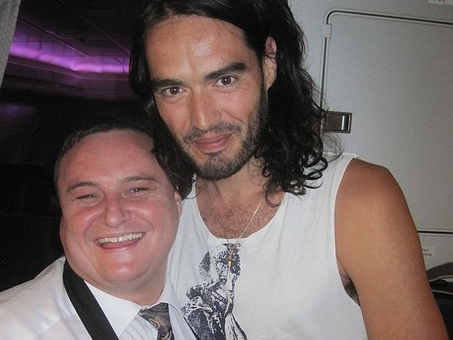Owen with Russell Brand.