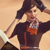 All gloves, scarves and neckties feature intricate geometric patterns and fretwork.