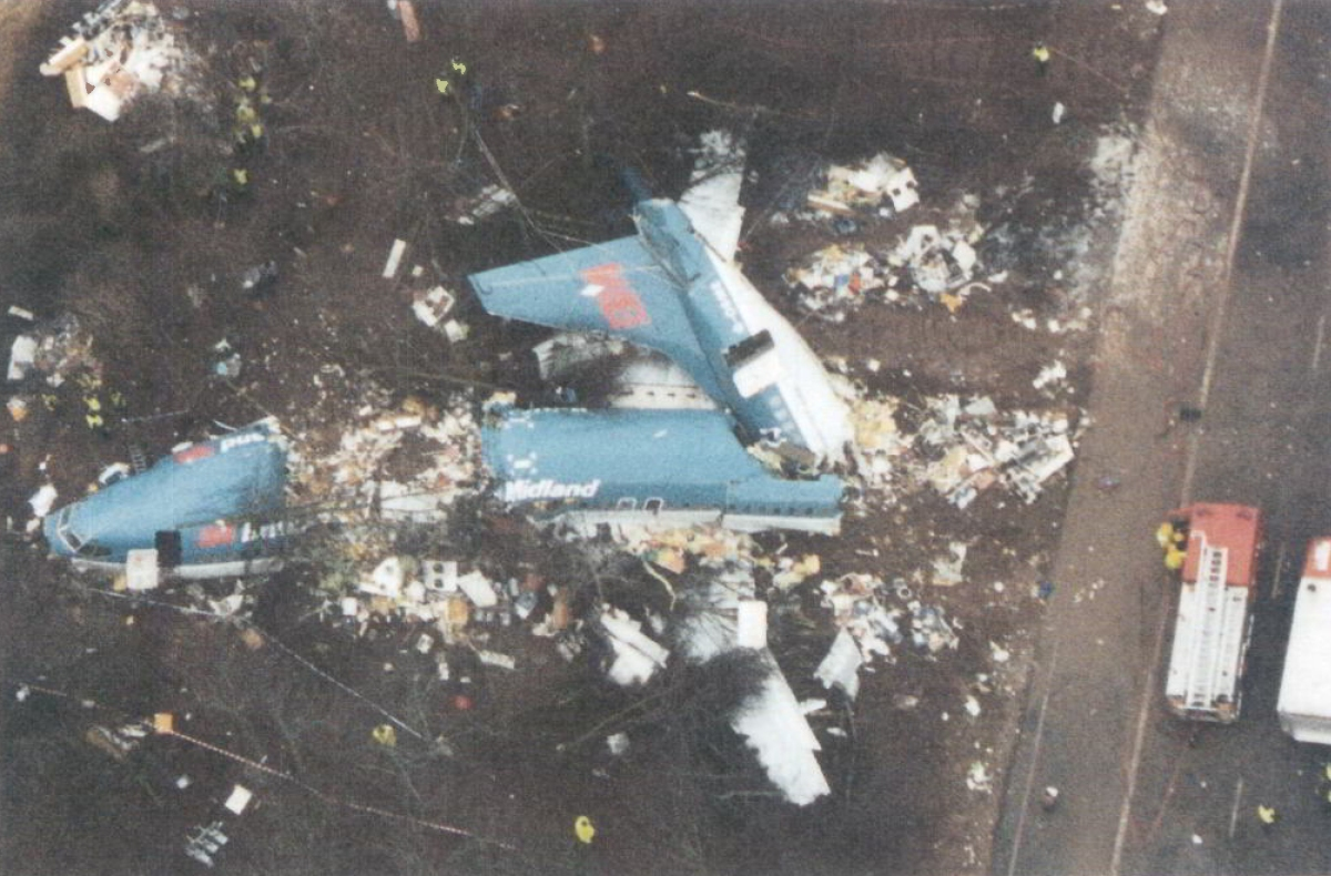 british midlands kegworth air disaster East midlands airport  media in category kegworth air disaster  british midland 737 g-obme, kegworth,.
