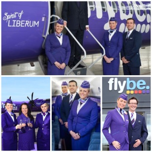 Flybe by airlines in house design team.