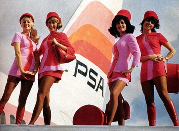 In 1987 US Air purchased San Diego based Pacific Southwest Airlines (PSA). With its colorful livery and iconic flight attendants, the airline had a loyal passenger following and even today remains one of the most widely recognisable and iconic airlines in history.