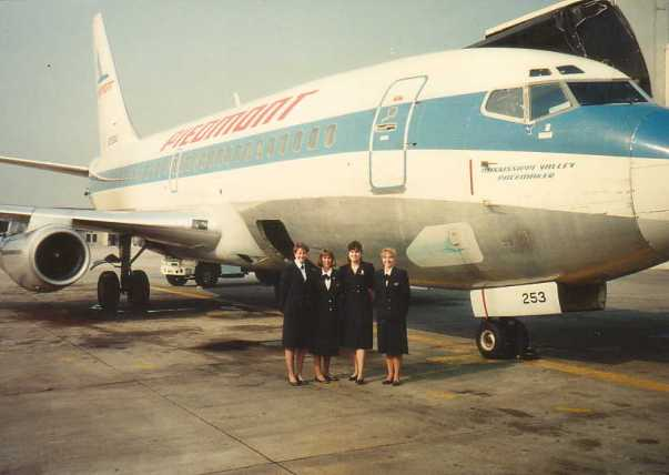 North Carolina based Piedmont Airlines was formed in 1948. Its acquisition by US Air in 1989 was, at the time, the worlds largest airline merger and led to US Air becoming one of the worlds biggest carriers. Pictured here is one of the last ever Piedmont Airlines flights.