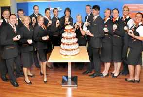 2010 was a big year for easyJet. It became the UK's largest airline in terms of passengers flown. Carolyn McCall joined the company as CEO, taking the reigns from Andy Harrison. They were voted the Best Low-Fares Airline for the tenth consecutive year at the Business Traveller magazine awards. And the airline celebrated its 15th anniversary as it continued to 'Turn Europe Orange'.