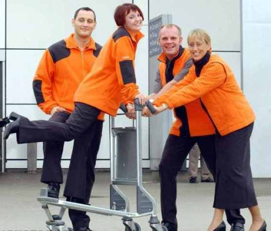 By April 1996 easyJet had taken delivery of its first wholly owned aircraft and expanded into Europe with flights to Amsterdam, Nice and Barcelona. The airline began a massive cabin crew recruitment drive and its staffs bright orange uniforms soon became a regular sight in airports across the continent.