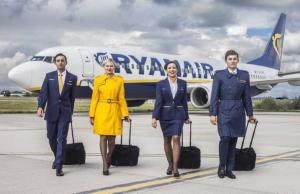 In September, Ryanair revealed a stylish new look for their cabin crew.The uniforms, created by young Irish designer, Emma Collopy, feature a darker shade of blue, a new 'golden yellow', and smarter tailoring than current designs. Could they make it on to our 2016 Style In the Aisles?