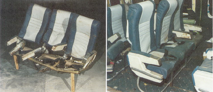 Damaged Seats from G-OBME
