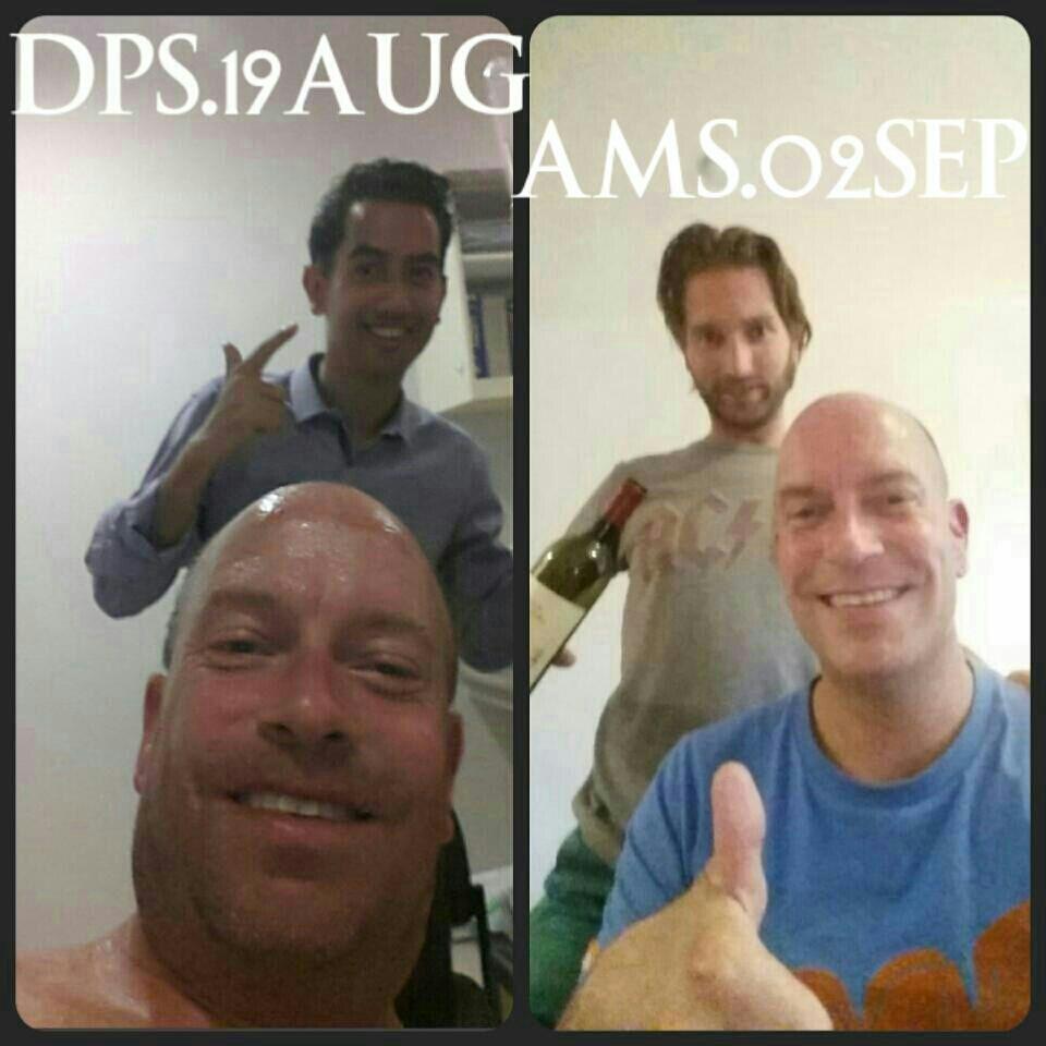 Fotokatern, foto Wilbert in het ziekenhuis op Bali en later inAmsterdam