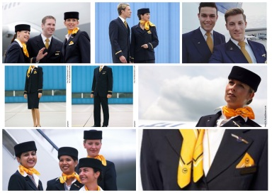 Lufthansa by Gabriele Strehle for fashion label Strenesse and Etzkorn fashion house.