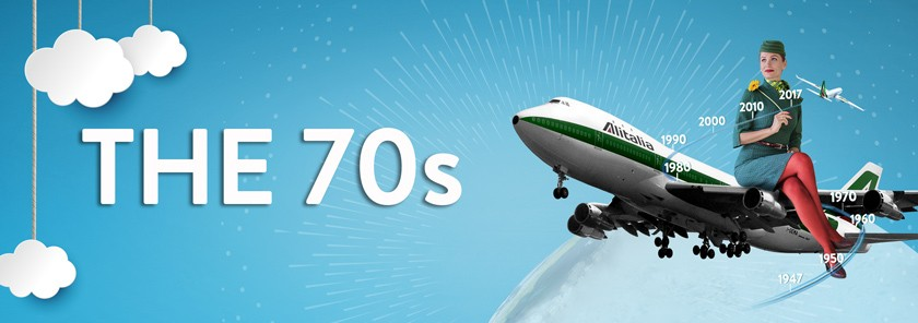 The updated Alitalia livery introduced alongside the new Boeing 747.
