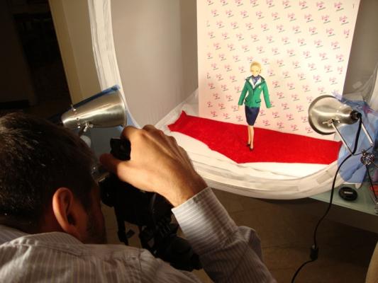 Barbie Loves Alitalia, backstage.