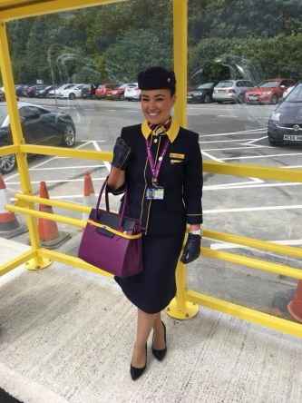 Monarch Airlines Cabin Crew new uniform that was to be introduced in 2018.